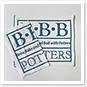 B・B・B POTTERS オリジナル手ぬぐい ハーフサイズ