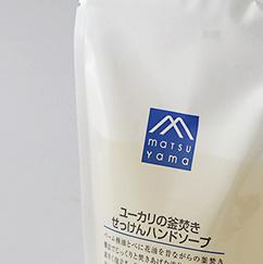 松山油脂 Mマークシリーズ ユーカリの窯焚きせっけんハンドソープ