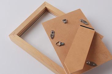 木製のフレーム ポストカードサイズ