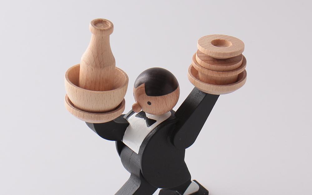 KIKKERLAND キッカーランド Don't Tip The Waiter Stacking Game