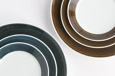 白山陶器 麻の糸シリーズ プレート