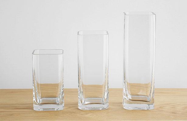 ガラスのフラワーベース ランバー