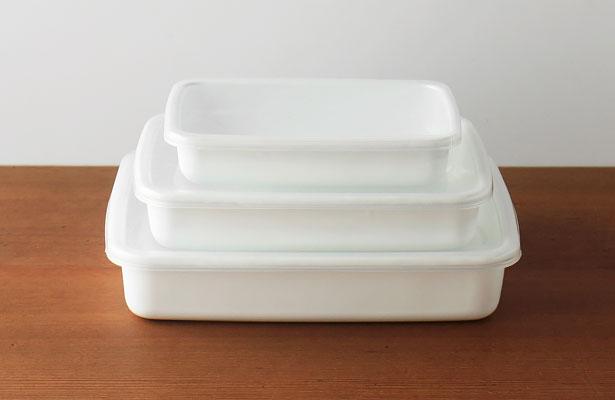 野田琺瑯 ホワイトシリーズ レクタングル浅型