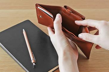 レザー三つ折り財布 Arizona